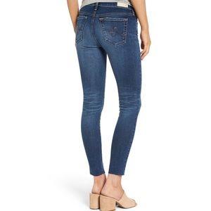 AG Legging Super Skinny Raw Hem Ankle Jean
